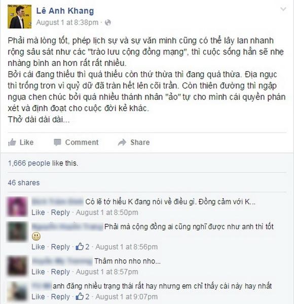 (Ảnh: Facebook Anh Khang).