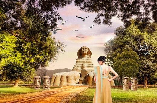 Bạn thấy thế nào khi tượng Nhân sư trốn nóng ở rừng rậm Thái Lan?