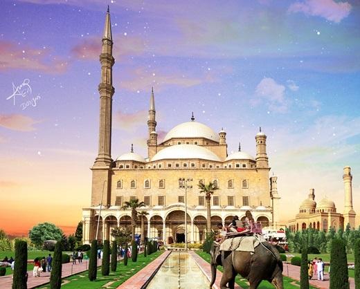 Đừng nhầm lẫn! Đây là đền Salah El Din của Ai Cập chứ không phải đền Taj Mahal nhé.