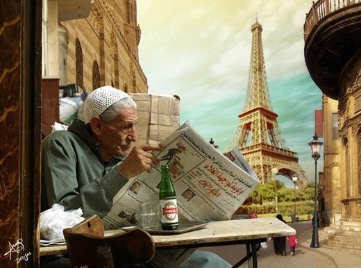 Bạn có thích vừa nhâm nhi bia Ai Cập trên phố Moez vừa ngắm tháp Eiffel không?