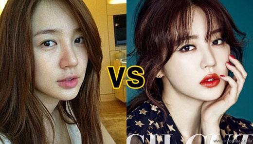 Yoon Eun Hye và gương mặt không trang điểm khiến nhiều người khó nhận ra.