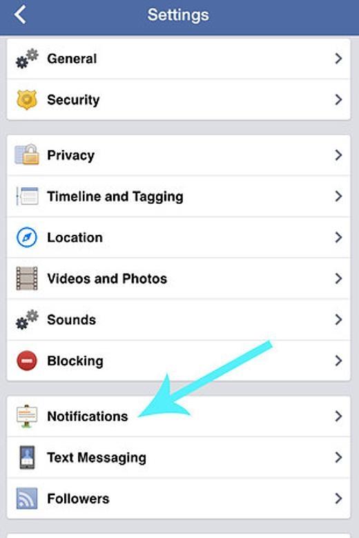 Hãy vào More>Settings>Notifications>Mobile Pushvà bỏ chọnApplication Requests để chặn các lời mời chơi game cũng như ứng dụng phiền phức.