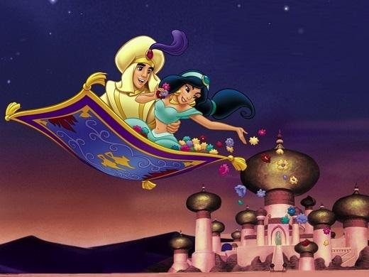 Lấy bối cảnh là vương quốc Ba Tư ở Trung Đông huyền bí, Aladdin là câu chuyện tình đẹp giữa nàng công chúa và chàng lang thang với những ca khúc nhạc phim ngọt ngào đúng chất Disney.