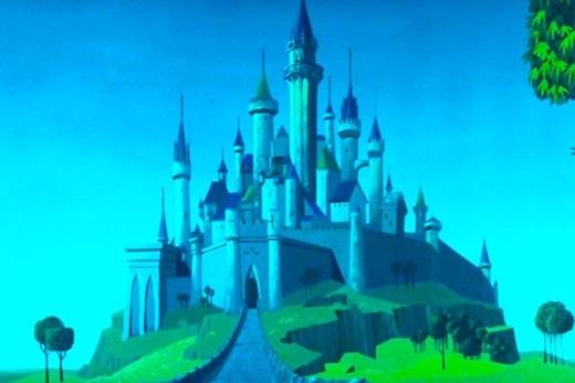 Tòa lâu đài canh giữ giấc ngủ dài của nàng công chúa Aurora xinh đẹp.