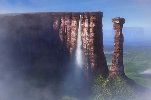 Không cần một ngôi nhà với hàng ngàn chiếc bong bóng để đến được hẻm núi cheo leo trong phim Up...