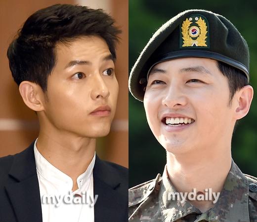 Song Joong Ki đẹp trai hơn hẳn so với ngày xuất ngũ.