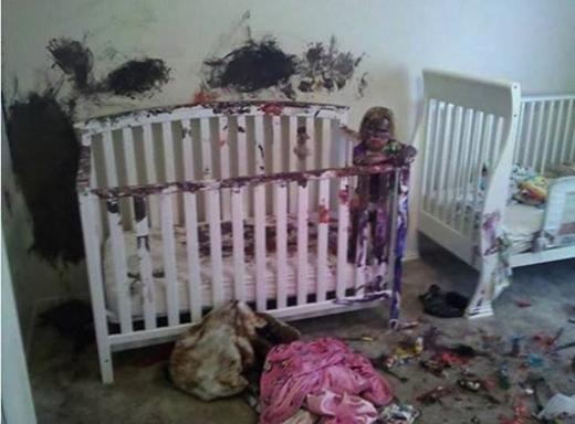 Không nên trang trí phòng của mấy đứa nhóc bằng màu trắng nhé!