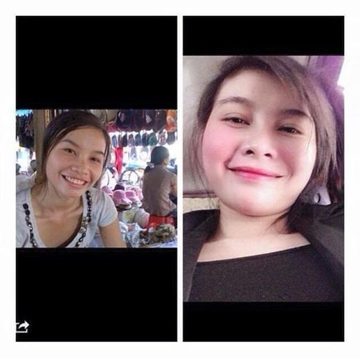 Những bức ảnh trước và sau khi 'lột xác' được các bạn gái thi nhau đăng lên Facebook.