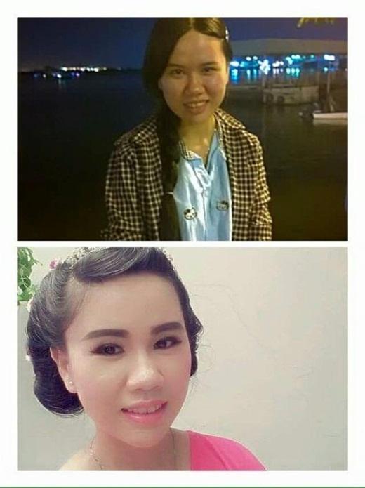 Có thể thấy rõ sự khác biệt trước và sau khi trang điểm của các bạn nữ.