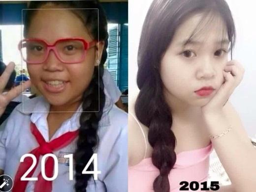 Chỉ có một năm nhưng cô nàng này đã thay đổi đến mức khó có thể nhận ra.