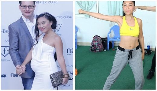 Đoan Trang chọn cách tập thể dục kết hợp chế độ ăn uống như nhiều bà mẹ khác để giảm cân sau sinh. - Tin sao Viet - Tin tuc sao Viet - Scandal sao Viet - Tin tuc cua Sao - Tin cua Sao