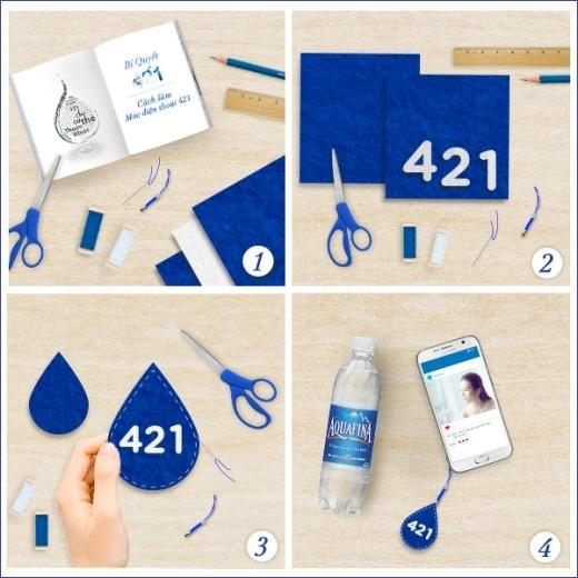Móc treo điện thoại hình giọt nước 421đáng yêu cũng là một cách nhắc nhở sành điệu.