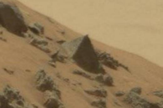 Hình ảnh được cho là 'kim tự tháp' trên sao Hỏa.