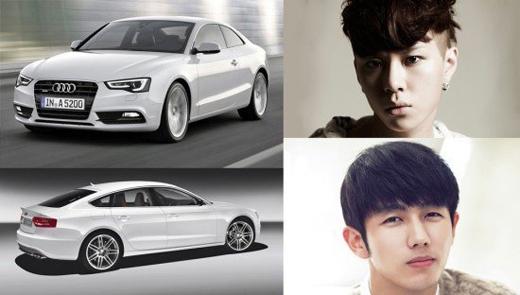 Audi A5s rất được các nam thần xứ Hàn yêu thích, điển hình như Junhyung (Beast)và Seulong (2AM).Xế hộp này có giá khoảng 1,3 tỉ đồng.
