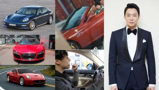 Yoochun (JYJ) 'khiêm tốn' với 3 chiếc siêu xe: Audi R8 trị giá gần 5 tỉ đồng, Porsche Panamera khoảng 4 tỉ đồng và Ferrari California trị giá 8,3 tỉ đồng.
