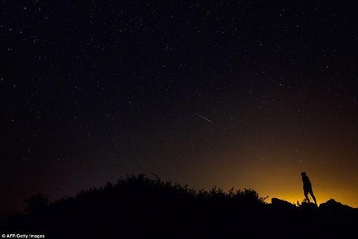 Còn đây là sao băng được ghi nhận tại Burgos, miền Bắc Tây Ban Nha.