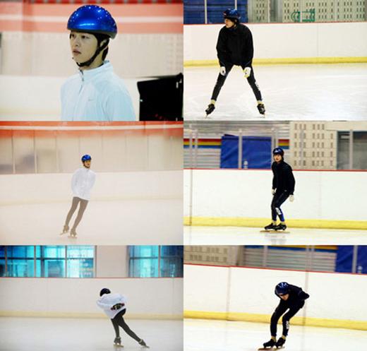 Khi còn học trung học, Song Joong Ki là vận động viên trượt băng tốc độ vô cùng tiềm năng. Anh cũng từng 3 lần tham dự giải trượt băng quốc gia. Tuy nhiên, nam tài tử đành phải từ bỏ niềm đam mê của mình sau khi gặp chấn thương nghiêm trọng không cho phép anh tiếp tục trượt băng.