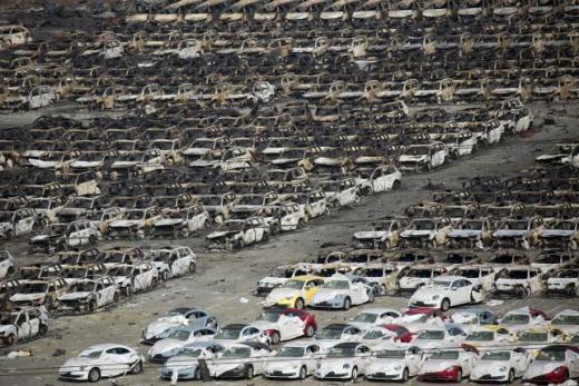 Những hình ảnh mới nhất về những thiệt hại tại Thiên Tân, Trung Quốc.