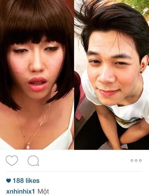 Trên trang instagram cá nhân, cô nàng Linh Đan của Chiến dịch chống ếthường xuyên chia sẻ những hình ảnh rất 'đáng nghi'.