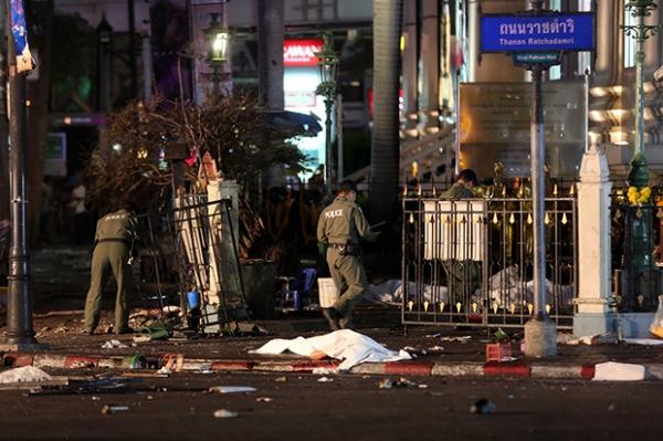 Hiện trường vụ nổ tại Thái Lan khiến 27 người thiệt mạng.