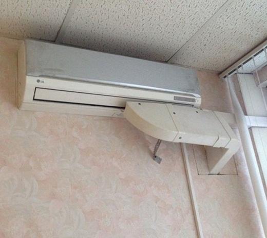 Phòng nào cũng được hưởng máy lạnh.