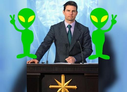 Tom Cruise chỉ là một trong những người nằm trong danh sách rất dài các nghệ sĩ có niềm tin cực kì 'điên loạn' gọi là Scientology. Tôn giáo này sử dụng chiến thuật tẩy não để khiến các tín đồ trở nên trung thành. Điều chủ chốt của tôn giáo này là tin vào chúa tể Xenu, một người ngoài hành tinh đến từ không gian.