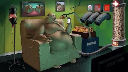 Bệnh béo phì do lười vận động và thức ăn nhanh đang đe dọa sức khỏe của chúng ta.