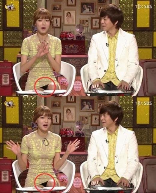 """Chân dài Sooyoung (SNSD) cũng không hề hay biết về sự cố """"ngượng chín mặt"""" trong quá trình ghi hình cho chương trình One Night Of TV Entertainment."""