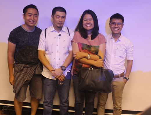 Đạo diễn Charlie Nguyễn, biên kịch Kay Nguyễn và anh Hoàng Thạch – người sáng lập 7 Film Fest