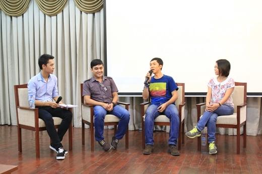 Từ trái qua: MC, Đăng Khoa, Quỷ Cốc Tử, Rosie Nguyễn
