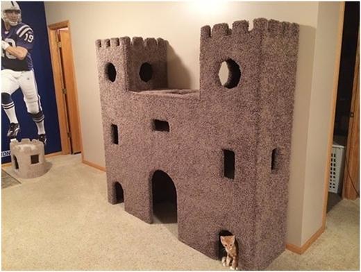 """Lâu đài cát của """"công chúa Miu""""."""