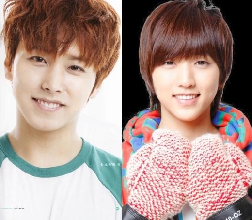 """Ngoài khả năng ca hát """"miễn bàn"""" thì nụ cười trẻ con chính là đặc điểm hút fan của Sungmin (Super Junior) và Sandeul (B1A4)."""