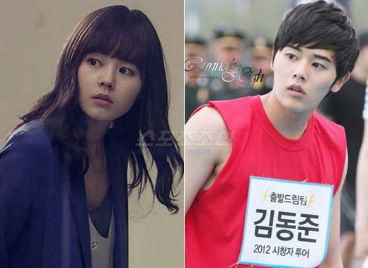 Han Ga In và Kim Dong Jun lại như hai chị em sinh đôi bởi từng đường nét trên gương mặt họ đều giống nhau như đúc.