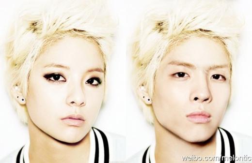 Nhìn qua tấm hình này hẳn ai cũng sẽ giật mình trước sự giống nhau của Jong Hyun (SHINee) và Amber (F(x)).