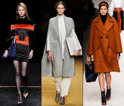 Thay vào những kiểu túi cỡ nhỏ hoặc trung bình, mùa Thu - Đông năm nay là sự chiếm lĩnh của kiểu túi kích cỡ lớn đơn sắc không họa tiết.