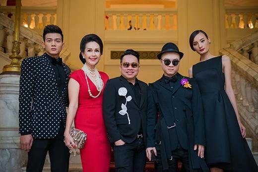 Lê Xuân Tiền, Diễm My, doanh nhân Huy Cận, nhà thiết kế Đỗ Mạnh Cường và Lê Thúy.