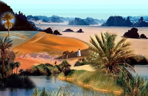 """Libya – quốc gia """"siêu"""" cát. 99% diện tích của đất nước này là cát, chắc chắn bạn sẽ không vui chút nào nếu bị lạc."""