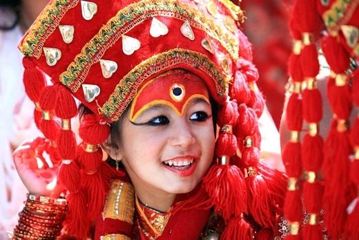 Nepal – quốc gia chuộng nữ quyền. Đây là đất nước duy nhất trên thế giới thờ vị nữ thần sống được gọi là Kumari.