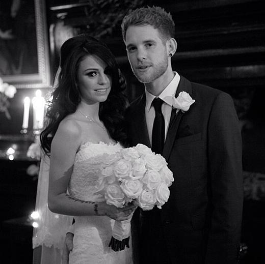 Cher Lloyd và Craig Monk trong buổi lễ thành hôn bí mật vào tháng 11/2013.