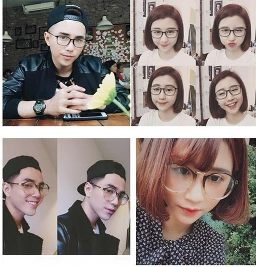 Giới trẻ tinh ý phát hiện cặp đôi này kín đáo dùng kính đôi và ốp điện thoại đôi.