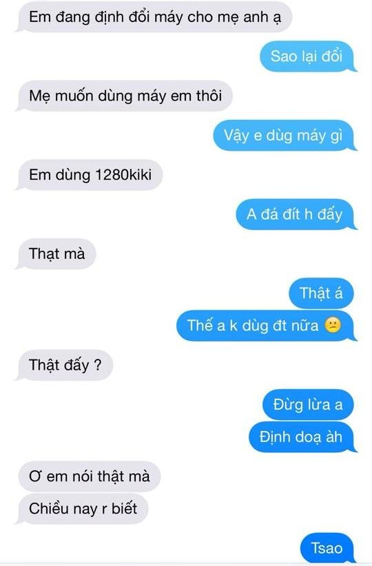 Những tin nhắn qua lại giữa P.H.T và bạn trai.