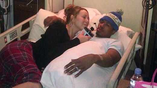 Tháng 1/2012, Nick Cannon đã được cô vợ nổi tiếng Mariah Carey ghé thăm khi đang ở trong bệnh viện.