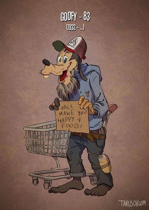 Chú chó Goffy sẽ trở nên vô gia cư khi về già ư?