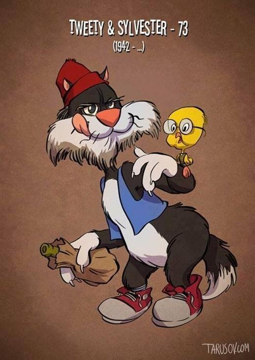 Bộ đôi Tweety và Sylvester vẫn còn khá 'xì tin'.