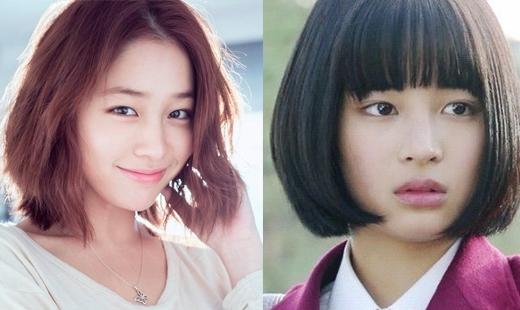 Lee Min Jung và Suzu Hirose lại rất giống nhau khi để cùng kiểu tóc.