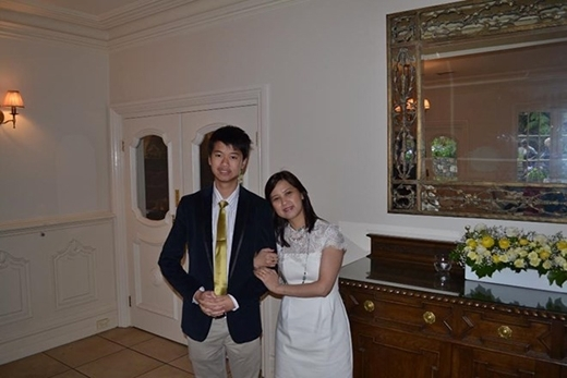 Chị Bích Châu và con trai.