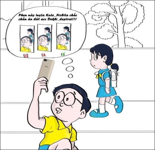 Khi Nobita đau khổ vì không thể chụp hình đẹp, chơi 'instagram' cực chất để gây ấn tượng với Xuka như Dekhiđẹp trai. Cậu đã có bảo bối trợ giúp...