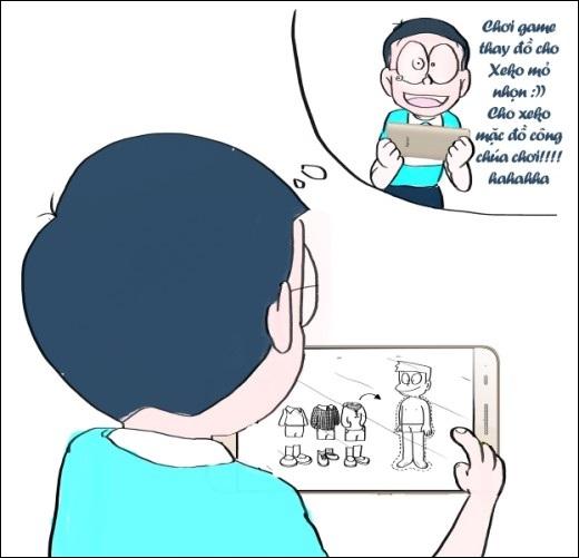 Khi Nobita buồn bã vì không có máy điện tử hiện đại để chơi như Xekomỏ nhọn, cậu cũng có bảo bối bên cạnh mình….
