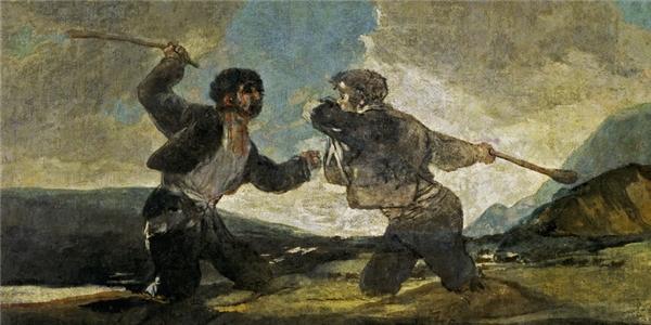 Bức tranh Đánh nhau bằng gậy của danh họaFrancisco Goya