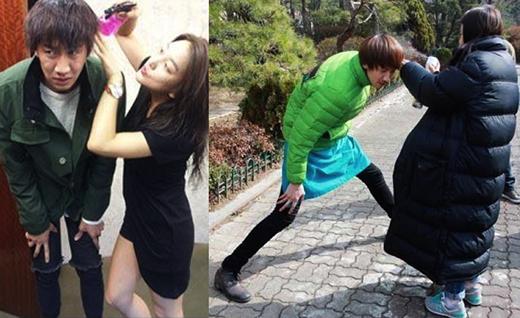 'Hoàng tử châu Á'Lee Kwang Soo còn có biệt danh là hươu cao cổ bởi chiều cao hơn 1m9. Với đôi chân khá dài, Lee Kwang Soo thường xuyên phải đứng dang rộng chân mỗi khi stylist chỉnh tóc, trang điểm cho anh và trong nhiều hoàn cảnh khác.